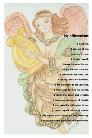 Angel with Harp Poem