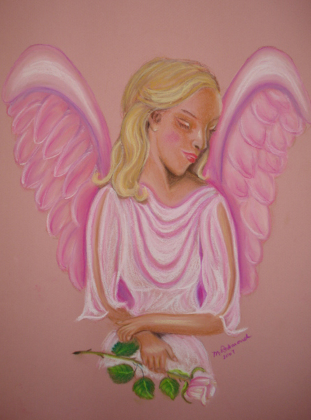Pink Angel with Flower